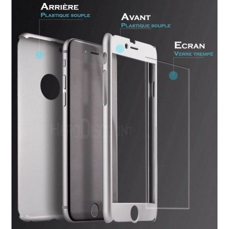 coque iphone 7 ecran verre trempe