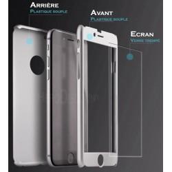 Coque Samsung Galaxy S7 Full protect 360 avec verre trempé intégré - Différent coloris