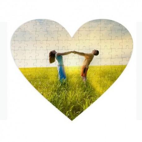 Puzzle InLov en coeur à personnaliser- 19 x 18